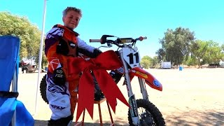 8 YEAR OLD KTM DIRTBIKE BIRTHDAY!