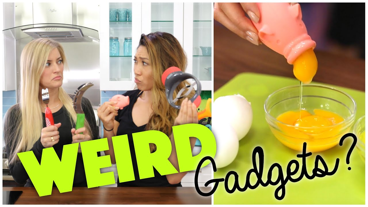 Testing Weird Kitchen Gadgets feat. iJustine - YouTube