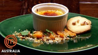 Mandarin Brûlée With Walnut Butter Biscuit | MasterChef Australia | MasterChef World