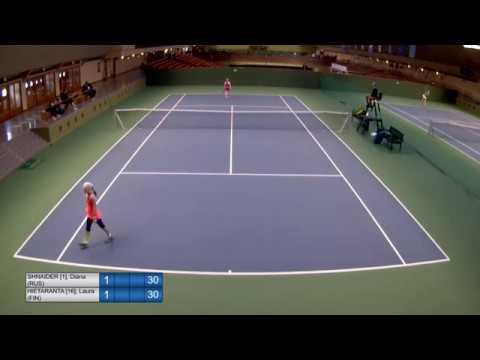 U14 Cat. 1 Stockholm - R3 - (1)Diana Shnaider (RUS) vs. (16)Laura Hietaranta (FIN)