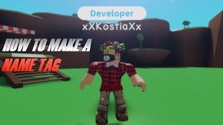 How to make a Name Tag | Roblox Studio