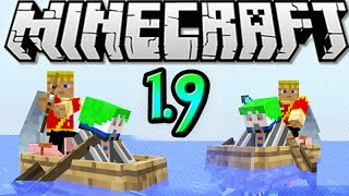 "MineCraft 1.9 Two Person Boats in Vanilla! MUST SEE! ""SnapShot 15w42a"""
