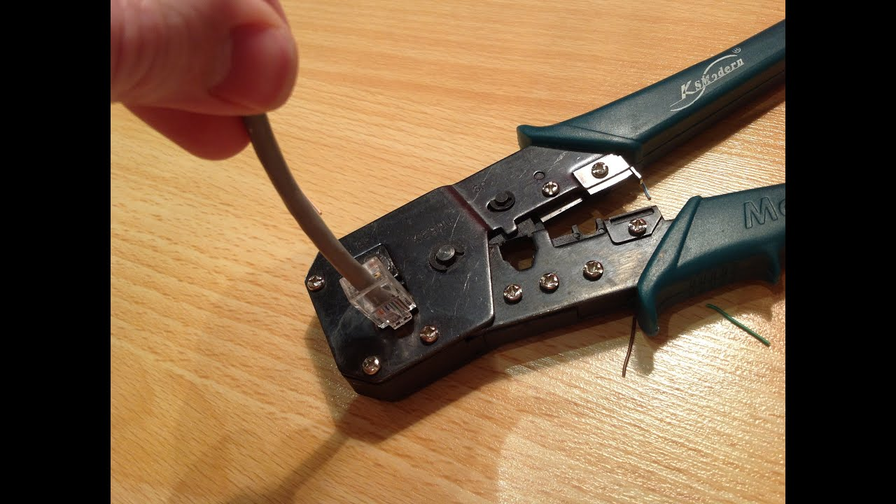 Как обжать витую пару коннектором RJ45 ? Домашняя локальная сеть.