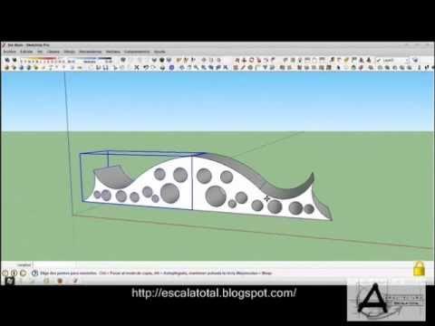 Sketchup tutorial como hacer espejo o mirror a un objeto for Como hacer un espejo