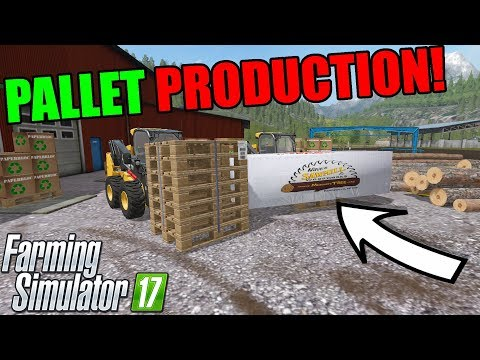 NEW SAWMILL | PRODUCING PALLETS AND PAPER | GETTING LOGS | FARMING SIMULATOR 2017 thumbnail