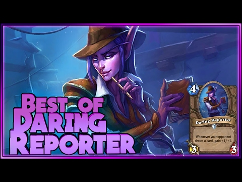 Hearthstone - Best of Daring Reporter - Funny and lucky Rng Moments