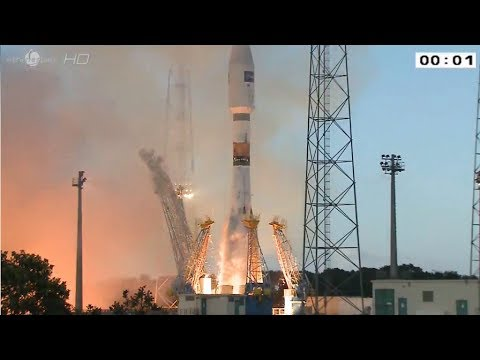 VS07 Soyuz Launches Sentinel 1A Earth Waching Spacecraft From Kourou