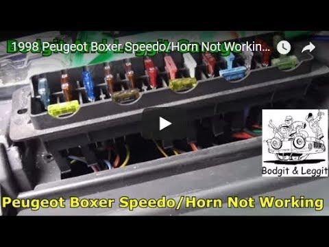 1998 peugeot boxer speedo/horn not working bodgit and leggit garage