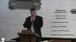 Bibelstunde vom 23.09.2020 - 9. Der Romaufenthalt und das Ende des Paulus