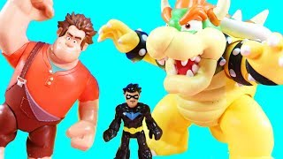 Wreck It Ralph Rescues Superhero Nightwing And Vanellope | Bowser Launches Fireballs
