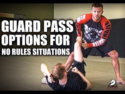 Jiu-Jitsu Guard Passing for No Rules Situations
