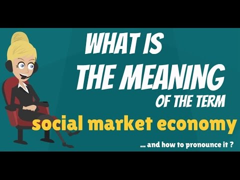 What is SOCIAL MARKET ECONOMY? What does SOCIAL MARKET ECONOMY mean?