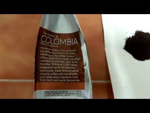 Starbucks Colombia ground coffee review.