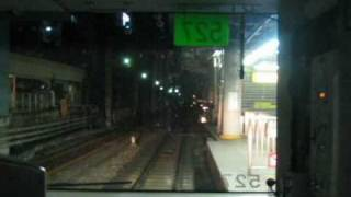 終夜運転 山手線 渋谷進入と大崎から品川 前面展望 女性車掌 車内放送