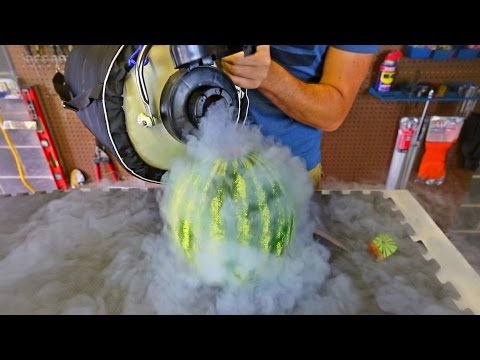 Pouring Liquid Nitrogen in Watermelon