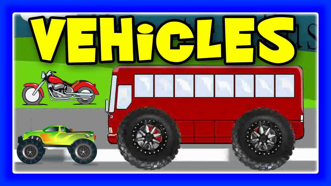 Monster Street Vehicles : Trucks, Bus, Train, Cars And