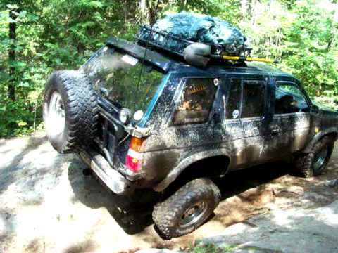 My Nissan Pathfinder off road climbing the Concession Lake ...