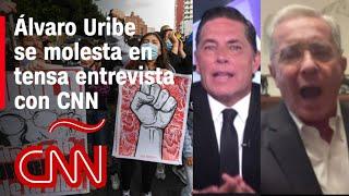 Álvaro Uribe en CNN: mira la tensa entrevista sobre las protestas en Colombia