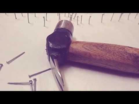 Thread n nail art drawn by Jishnu sreedharan