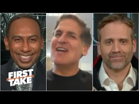 Mark Cuban laughs off Max's Knicks question and talks Luka Doncic-LeBron | First Take