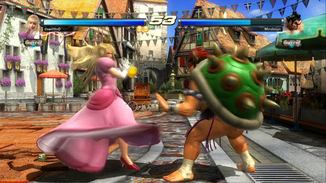Super Smash Bros Tekken Edition Peach Vs Bowser YouTube