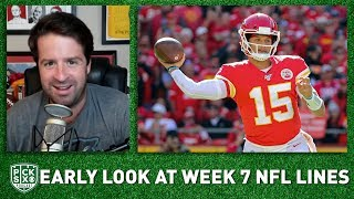 NFL Week 7 Lines Early Look, Picks, Betting Advice | Pick Six Podcast