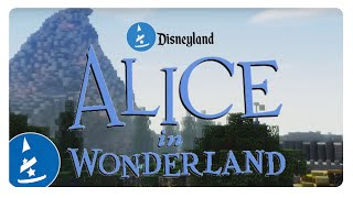 Disneyland Alice in Wonderland (Minecraft) | McAmusement Ride Alongs
