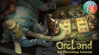 Рисую «боевого слона». Видео урок Photoshop | OrcLand