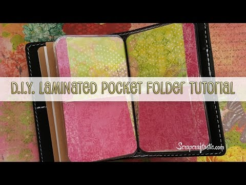 DIY Laminated Pocket Folder for Pocket Size Midori/Fauxdori Style Traveler's Notebook