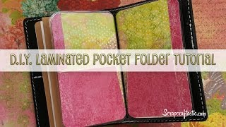 DIY Laminated Pocket Folder for Pocket Size Midori/Fauxdori Style Traveler's Notebook