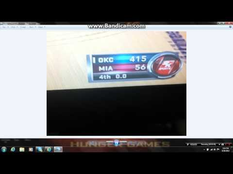 My Highest Score on a Sports Game (NBA 2K12) Oklahoma City Thunder vs Miami Heat