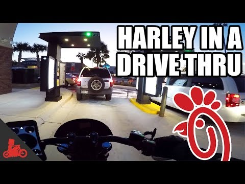 Harley In a Drive Thru (Chick-fil-a!) - Harley Dyna Low Rider S