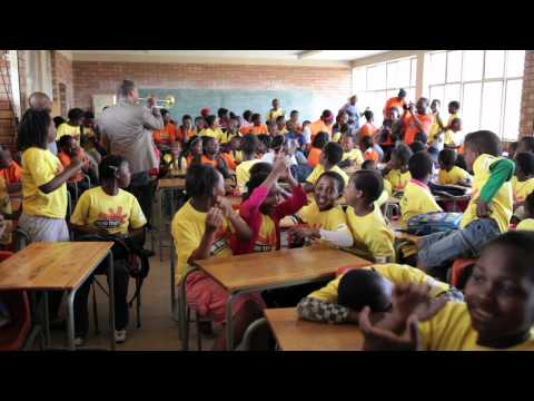 "Wynton teaching the ""Second Line"" at Teboho Trust School - South Africa"