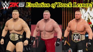 WWE 2K15 Evolution of BROCK LESNAR!!! (The Next Big Thing to Beast Incarnate!)- PC Mods