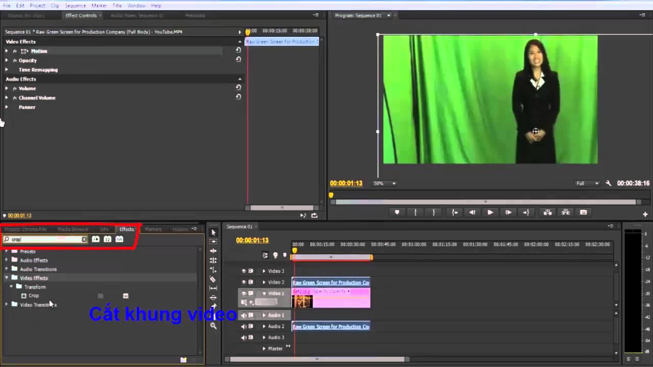 Hướng dẫn tách nền video Adobe Premiere Pro CS6