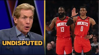"UNDISPUTED | Skip Bayless ""Impressive"" Westbrook's 31 Pts lead Rockets to 120-116 win over Bucks"
