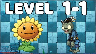 Plants vs Zombies Strategy East Sea Dragon Palace 1-1