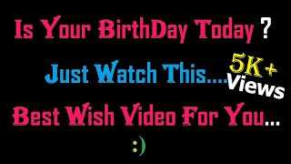 Gambar cover Happy BirthDay!!! 😍 Heart Touching Or different emotional Birthday wish Video oR Gift 😊 -SRS