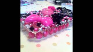 Hand deco'd cell phone covers by Hold My Heart Creations.