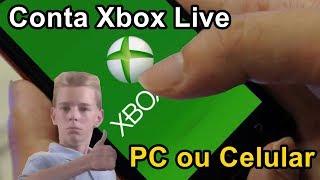 Como criar CONTA na XBOX LIVE pelo PC ou CELULAR