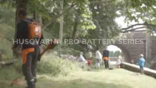 Learn about Husqvarna Pro Battery Trimmers