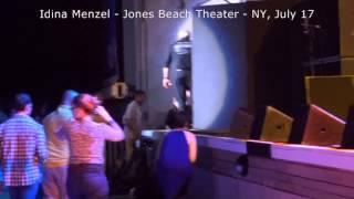 VIDEO 5 Idina Menzel #IdinaWorldTour Jones Beach Theater, July 17, 2015