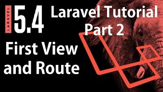 Laravel 5.4 Tutorial | First View and Route in Laravel 5.4 from scratch Part 2 | Bitfumes