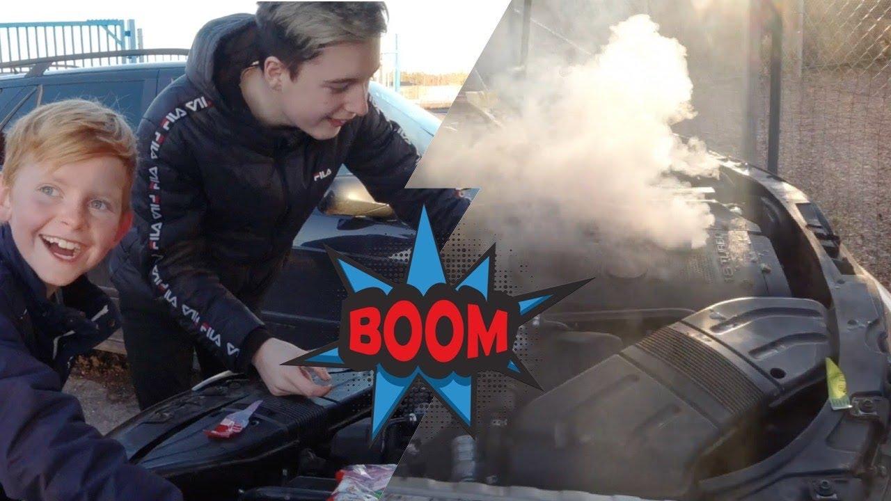 LEO & LIAS STOPP! || MOTORN EXPLODERAR