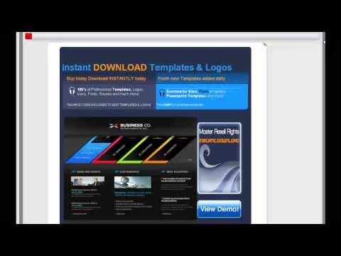 20GB Flash Web Template Website Design INSTANT DOWNLOAD