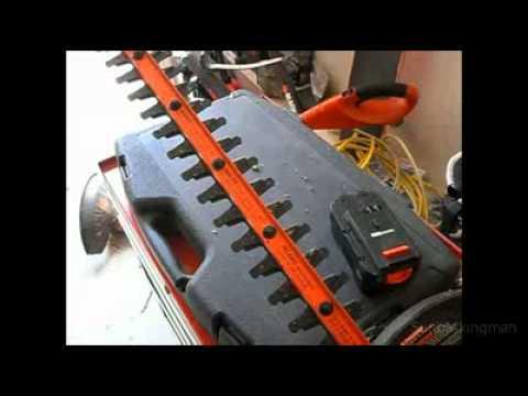 Black Amp Decker Nht518 18 Volt Cordless Electric Hedge