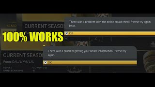 "FIX ONLINE SQUAD ERROR MESSAGE Seasons FIFA 15 - ""problem getting your online information"""