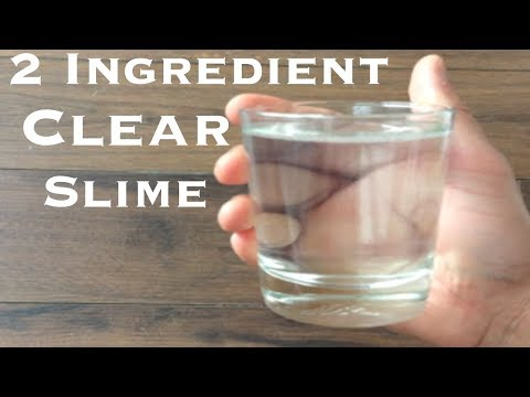 How To Make Crystal Clear Slime With 2 Ingredient!! Slime With Glue no borax