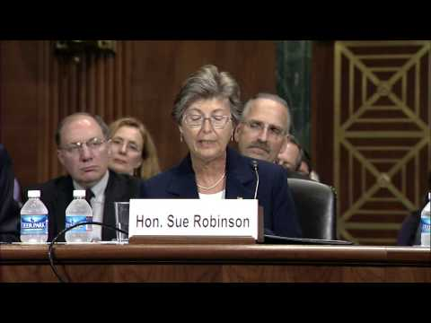 Judge Sue Robinson testifies before Senate Judiciary Subcommittee about new judgeships