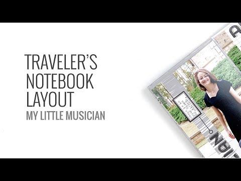 Traveler's Notebook Process Layout 2019 | My Little Musician